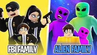 ALIEN FAMILY 👽 vs FBI FAMILY 🕵️ in Roblox BROOKHAVEN RP!