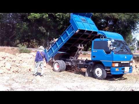 รถบรรทุก  รถดั้ม 6 ล้อ เทดินถมที่ Trucks Thailand