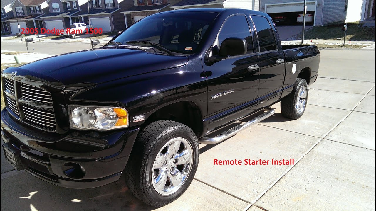 2005 Dodge Ram 1500 Remote Starter Install Of Avital 4103 Youtube Audiovox Start Wiring