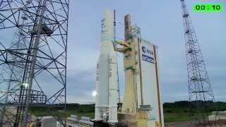 Ariane 5 flight VA223 liftoff replay