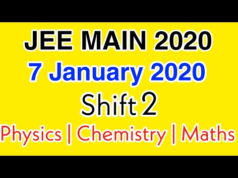 jee-main-answer-key-2020-|-7-january-2020-shift-2-full-answer-key-with-solutions