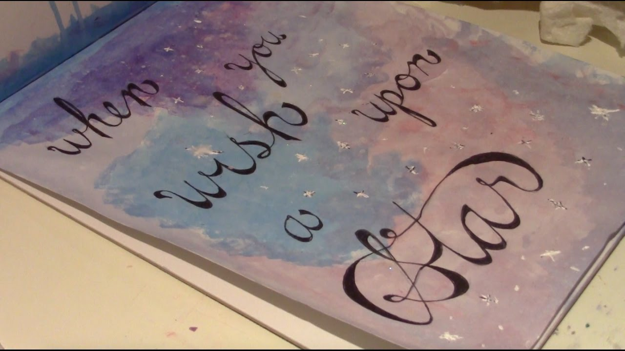 When You Wish Upon A Star Walt Disney Quote Art