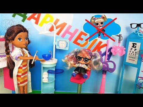 DOLL LOL SURPRISE CARTOON! The DOCTOR LEARNED in vain dyed her hair #lol surprise #doll