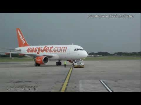 Easy Jet A319 Close Up PushBack and Engine start, Manchester HD.