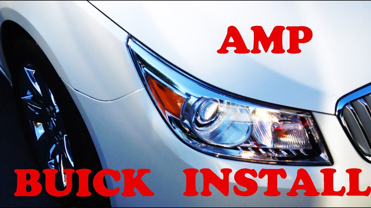 How To Install A Stereo Amplifier Into Any Gm Car Or Truck Youtube Buick Lacrosse Speaker Wiring