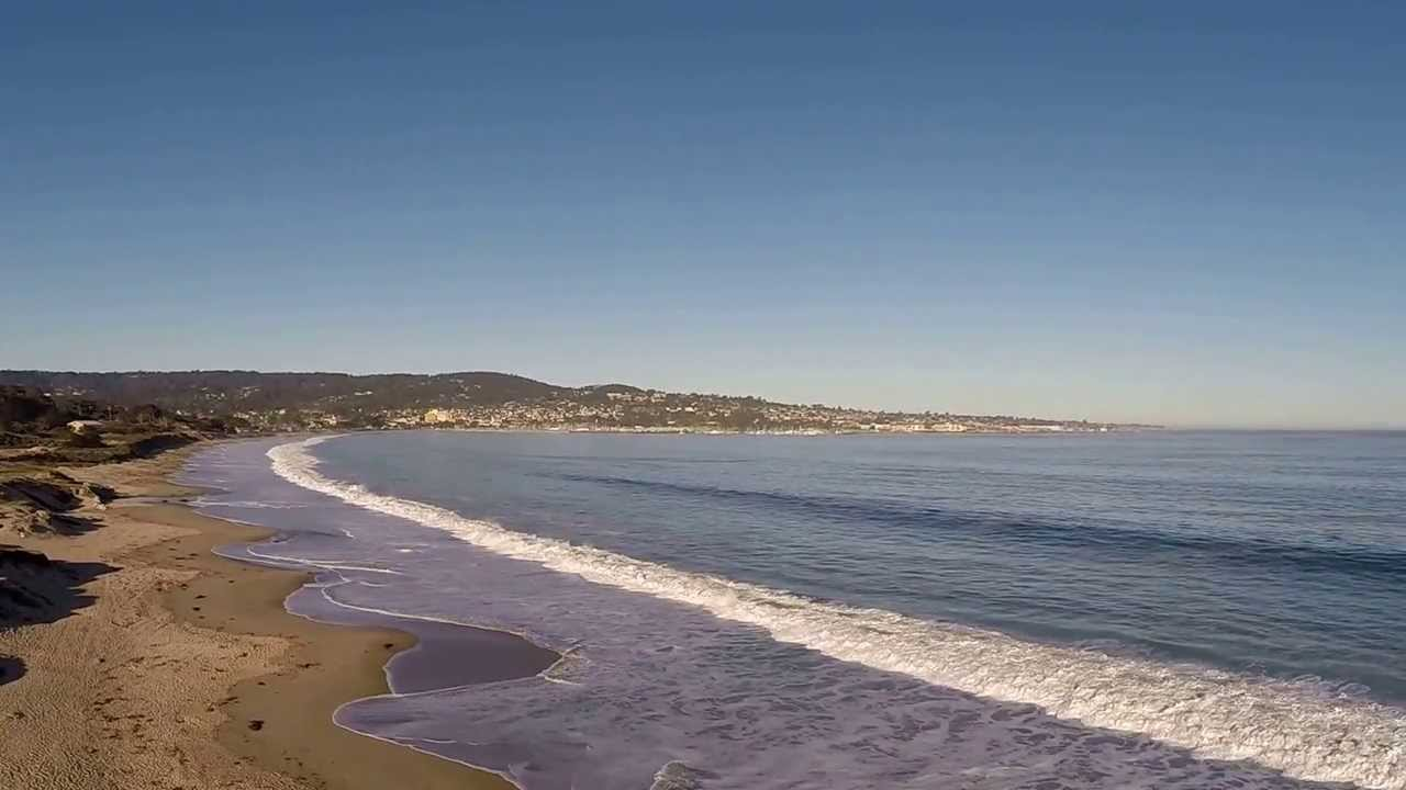 Del Monte Beach Monterey Ca Aerial Video