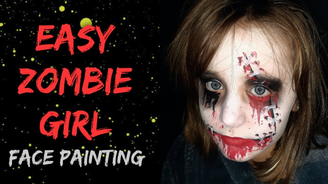 Easy Zombie Face Painting Halloween Face Painting Ideas Youtube