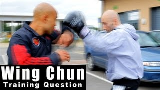 Wing Chun training questions - how you can deal with a boxers jab hook. Q37