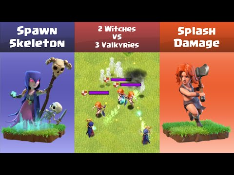 Every Level Witch VS Every Level Valkyrie | Clash Of Clans