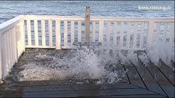 Sturmflut trifft Cuxhaven mit voller Wucht