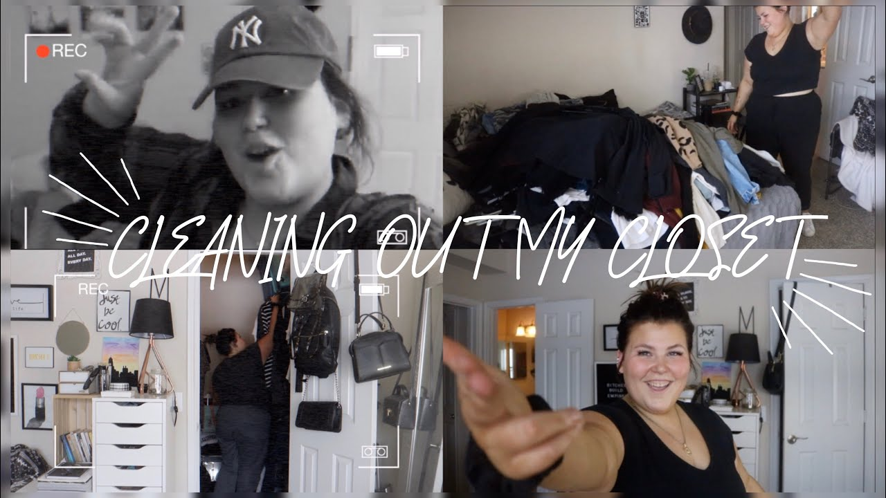 CLEAN WITH ME - Cleaning out my closet for the first time in A YEAR!    Maggie Sturgis