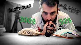 50$ VS 300$ Final mouse (Cape Town) VS Glorious model O (მაუსების შედარება)