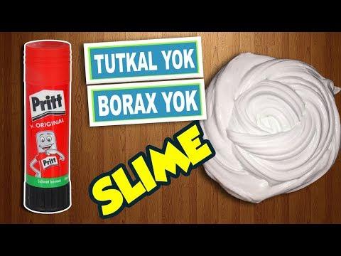 Borakssız Tutkalsız Pritt Katı Yapıştırıcı Ile Pofuduk Slime ♡ Traş Köpüğü Ve Prittle Slime Yapımı
