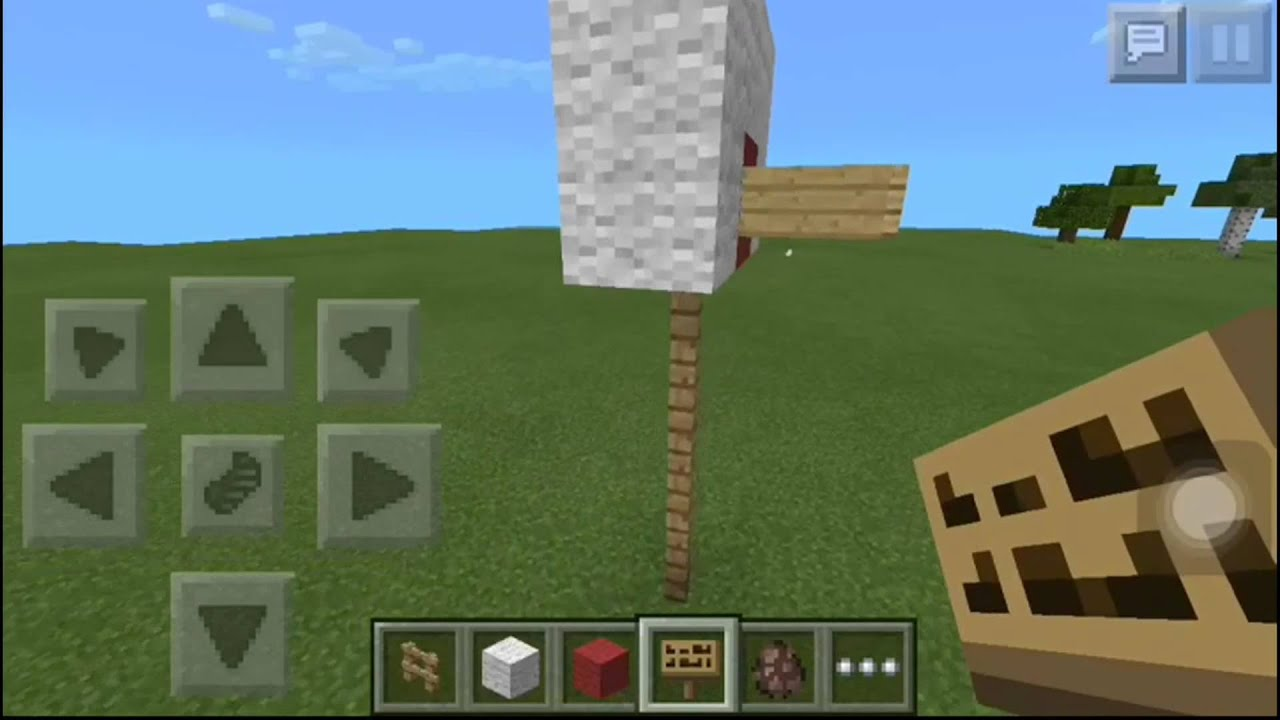 How to make the best ever basketball hoop on minecraft for How to build a basketball goal
