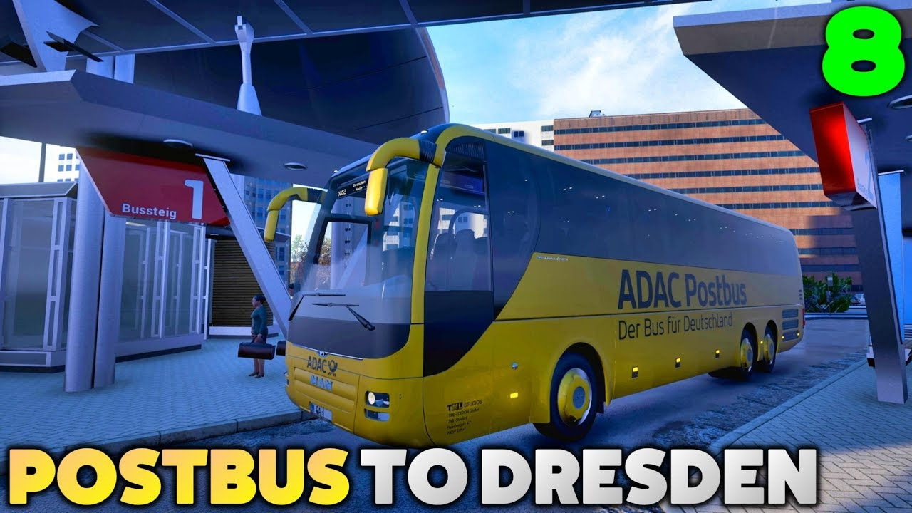 fernbus coach simulator let 39 s play postbus erfurt to dresden 8 youtube. Black Bedroom Furniture Sets. Home Design Ideas