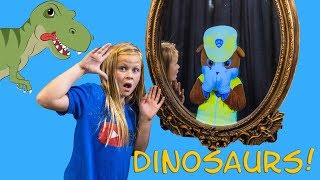 PAW PATROL Assistant Hunts Dinosaurs with the Magic Mirror