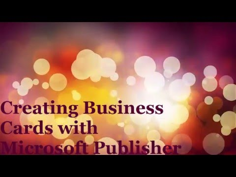 Creating Business Cards with Publisher