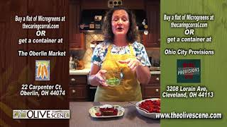 Cooking With The Olive Scene - Strawberries with Microgreens