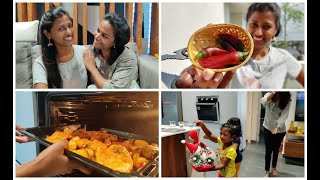 Baked chicken vlog/A day with our subscribers and friends/innaiku enna samayal