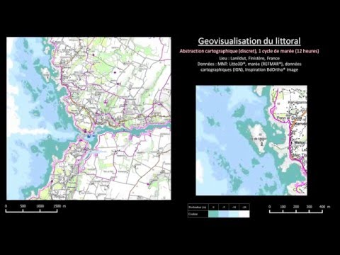 Animated coastal geovisualization: cartographic abstration rendering of water depth evolution