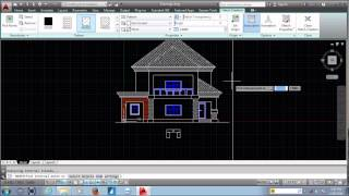 Autocad Tutorial House Design Elevation