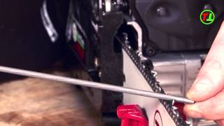 HOW TO SHARPEN A CHAINSAW WITH AND WITHOUT A FILE GUIDE, ADJUST DEPTH ADJUSTERS