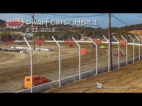 Barona Speedway Dwarf Car • Heat 1 • 8-11-2018