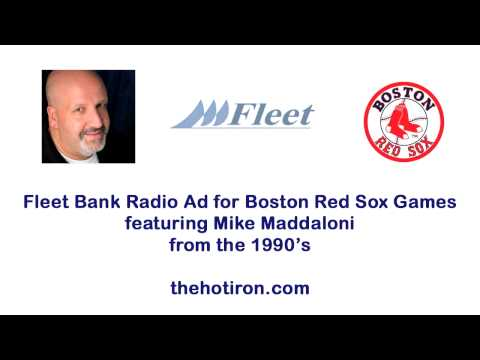 Fleet Bank Radio Ad for Boston Red Sox featuring Mike Maddaloni from the 1990