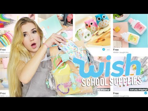 BACK TO SCHOOL SUPPLIES FROM WISH.COM!!