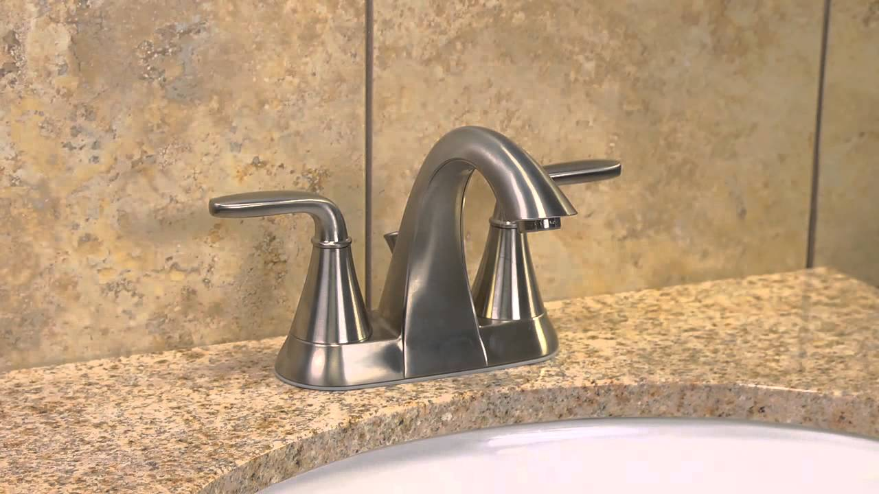 installing a pfister 4 centerset bathroom faucet with a pop up drain pasadena collection