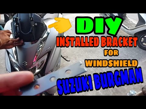 DIY INSTALLED BRACKET FOR SUZUKI BURGMAN STREET l KRAMYER MOTOVLOG