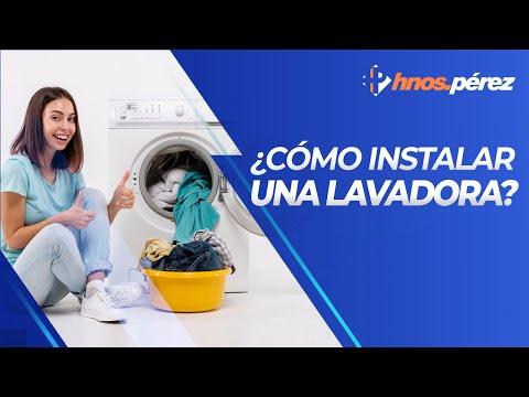 Cmo instalar y poner en marcha una lavadora  YouTube