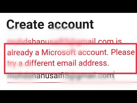 Microsoft Create Account & Already A Microsoft Account Try Different Email Address Problem Solve