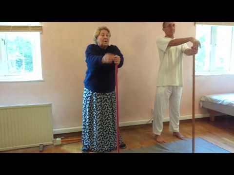 Physiotherapist from Latvia helps devotees regarding health part 2