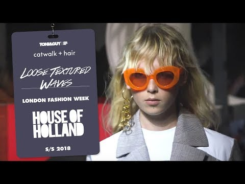 Catwalk hair: House of Holland for London Fashion Week SS18