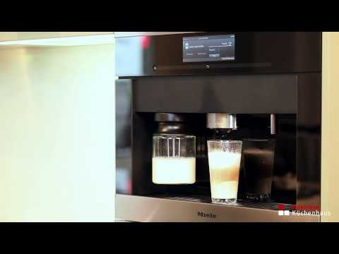 miele einbau kaffeevollautomat mit bohnensystem cva 6800 youtube. Black Bedroom Furniture Sets. Home Design Ideas