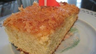Dream Cake Recipe- Danish Coconut Brown Sugar Cake - Drømmekage Opskrift