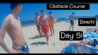Lads Majorca Holiday - Day 5: Beach & Obstacle Course