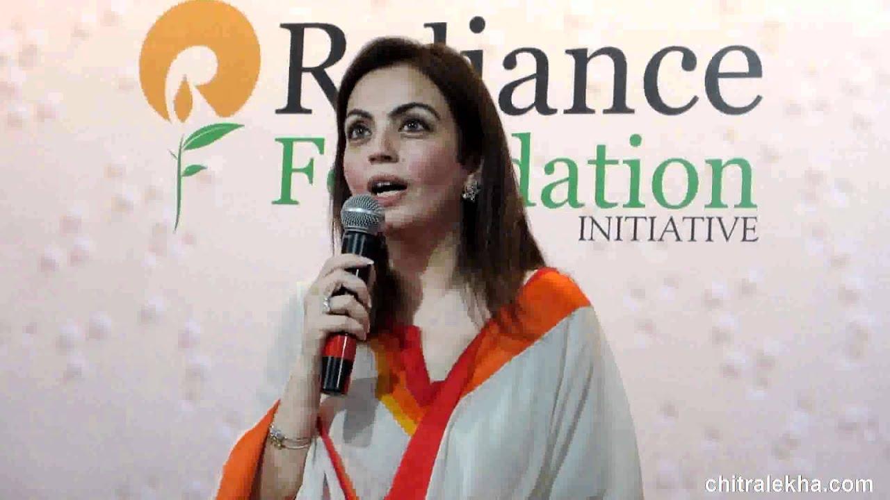 Nita Ambani unveils Reliance Drishti - India's first Registered ...