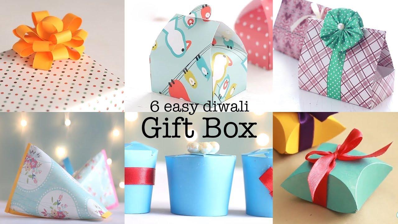 Diy Diwali Gift Wrapping Ideas Diwali Crafts Youtube