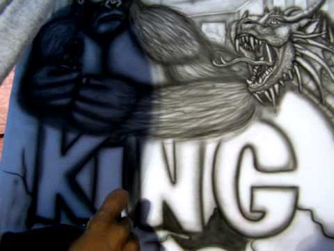 airbrush art in action