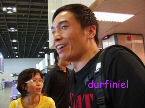 Moses Chan Ho departure @ Changi Airport 21/7/09