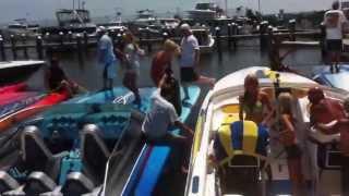 Crazy Cigarette Boats Engines Roaring Super Loud