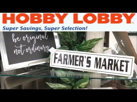 Hobby Lobby Farmhouse Spring Decor Shop with Me!