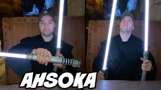 Unboxing Ahsoka's NEW Lightsabers at Galaxy's Edge - REVIEW