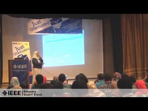 "IEEE AlexSB | Just Graduated - How to write your CV ? ""Ms. Heba Ramadan"""