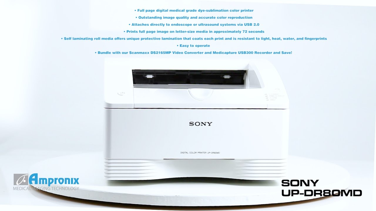 sony up dr80md updr80md color digital printer youtube