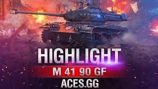 М41 90 GF и комфортный бой на карте Рудники в World of Tanks!
