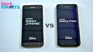 Samsung Galaxy J7 Duo vs Galaxy J7 Prime 2 Speed and Camera Comparison