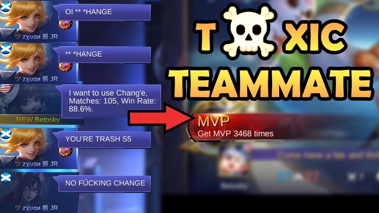 When You Encounter Toxic Teammate... | Mobile Legends